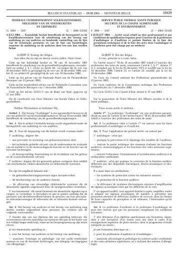 BELGISCH STAATSBLAD — 09.08.2004 — MONITEUR BELGE