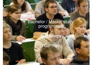 Bachelor / Master study programmes Audiology in ... - Medical Physics