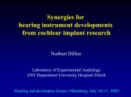 Synergies for hearing instrument developments from cochlear ...
