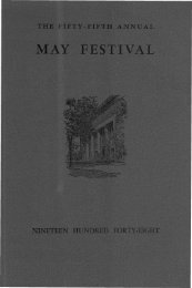 MAY FESTIVAL - Ann Arbor District Library