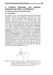 II. Funktion, Störungen und objektive Diagnostik des Außen- und ...