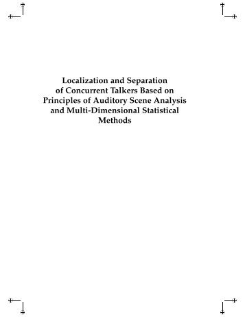 Localization and Separation of Concurrent Talkers Based on ...