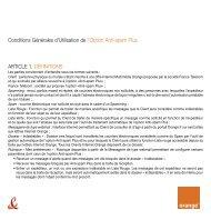 CGU v1.5 Option Anti-Spam Plus - Orange