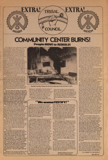 COMMUNITY CENTER BURNS! - Ann Arbor District Library