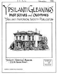 ypsilanti historical society- publication! - Ann Arbor District Library