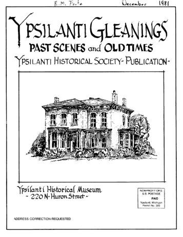ypsilanti historical society- publication! - Ann Arbor District Library