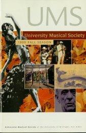 University Musical Society of the University of Michigan, Ann Arbor