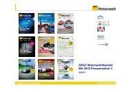ADAC Motorwelt Mediakit MA 2010 Pressemedien II - ADAC Verlag