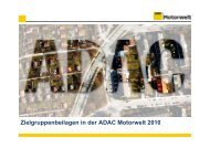 Zielgruppenbeilagen in der ADAC Motorwelt 2010 - ADAC Verlag