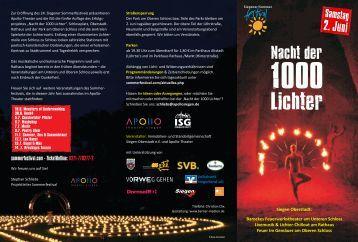 Flyer Nacht der 1000 Lichter 3 - APOLLO-Theater Siegen