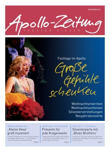 Apollo-Zeitung 12/2009 - APOLLO-Theater Siegen