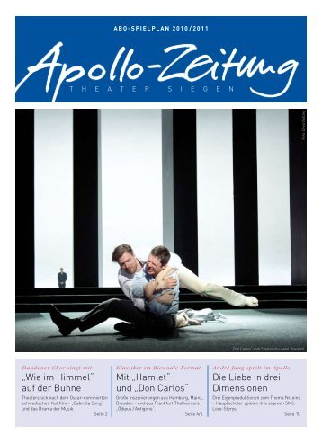 Die Apollo-Abo-Zeitung - APOLLO-Theater Siegen
