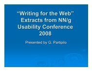 """Writing for the Web"" Extracts from NN/g Usability Conference 2008"