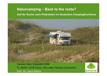 Naturcamping – Back to the roots?
