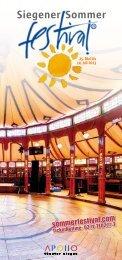 Programm Siegener Sommerfestival 2013 - Stadt Siegen