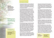 Kolloquium Ausbildung - Gesellschaft Anthroposophischer Ärzte in ...