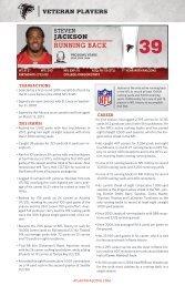 Jackson, Steven - Atlanta Falcons Media Guide