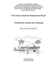 Deutsche Gesellschaft für Audiologie - Universität Oldenburg