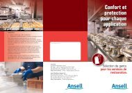 Confort et protection pour chaque application - Ansell Healthcare ...
