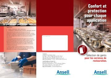 Confort et protection pour chaque application - Ansell Healthcare ...