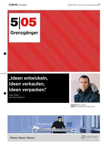 Architektur und Werbung // Gregor Wöltje, Unternehmer ... - BauNetz