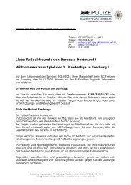 Willkommen zum Spiel der 1. Bundesliga in Freiburg - Borussia ...