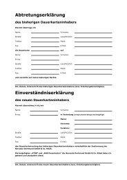 Abtretungserklärung Einverständniserklärung - Borussia Dortmund