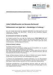 der Freiburger Polizei - Borussia Dortmund