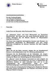 Anschreiben an Fanbeauftragten Dortmund - Borussia Dortmund