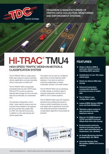 HI-TRAC® TMU4 High-Speed Traffic Weigh-in - TDC Systems