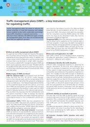 Traffic management plans (VMP) – a key instrument for ... - Brintex