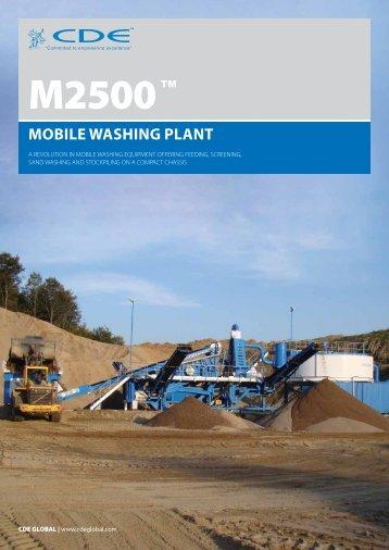 m2500 mobile washing plant - Brintex