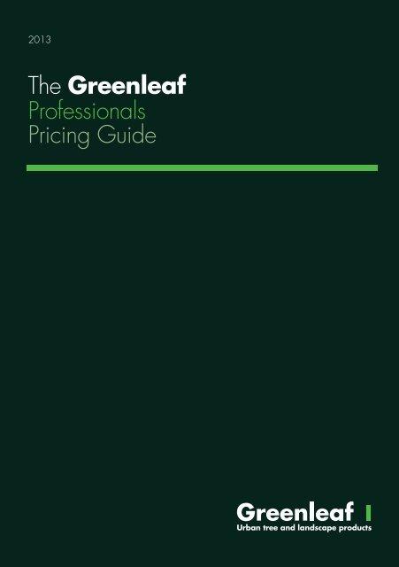 The Greenleaf Professionals Pricing Guide - Brintex