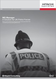 MG Manager A Solution for UK Police Forces - Hitachi Consulting