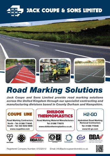 Road Marking Solutions Jack Coupe and Sons Limited ... - Brintex
