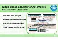 NEC Cloud-based Solutions - Brintex