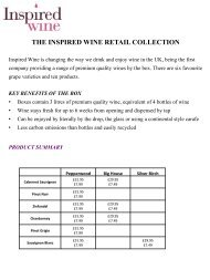 THE INSPIRED WINE RETAIL COLLECTION - Brintex