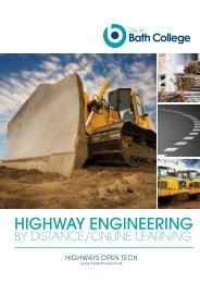 Highways Open Tech course brochure - City of Bath College
