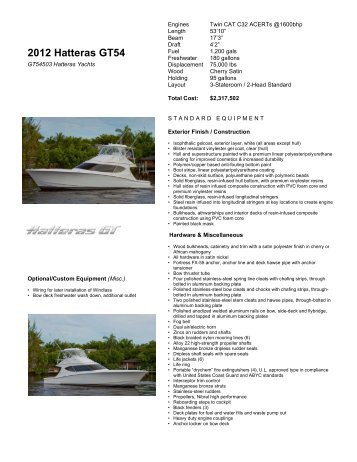 2012 Hatteras GT54