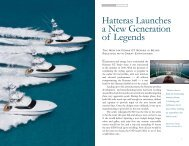 Hatteras Launches a New Generation of Legends