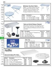 Melamine Top Deck Tables Table and Quick Release Pedestal