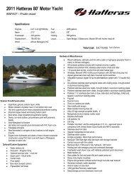 2011 Hatteras 80' Motor Yacht