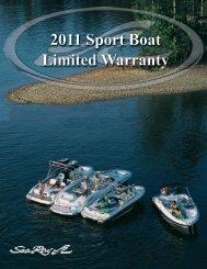 2011 Sport Boat Limited Warranty