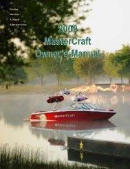 2009 MasterCraft Owner's Manual 2009 MasterCraft Owner's Manual