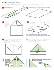 To make a paper airplane Harrier: - Cleveland.com