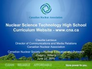 Nuclear Science Technology High School ... - media.cns-snc.ca