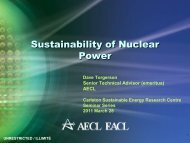 Sustainability of Nuclear Power - media.cns-snc.ca