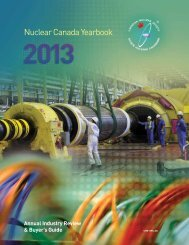 Canadian Nuclear Society Yearbook 2013 - media.cns-snc.ca