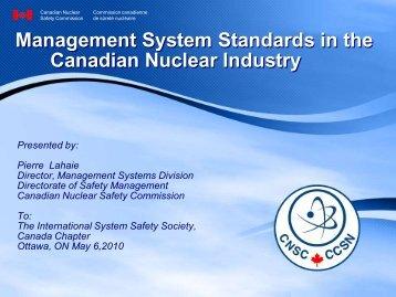 Management Systems - media.cns-snc.ca
