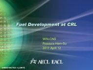 Fuel Development at CRL - media.cns-snc.ca